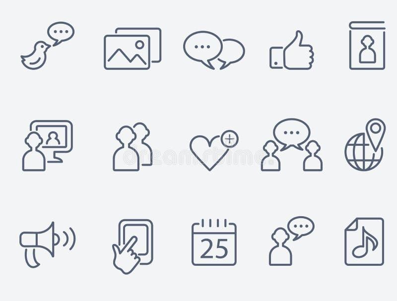 Sozialmedienikonen lizenzfreie abbildung