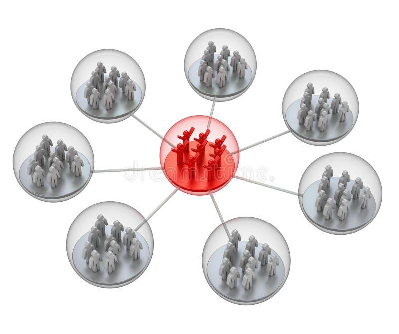 Sozialnetz vektor abbildung