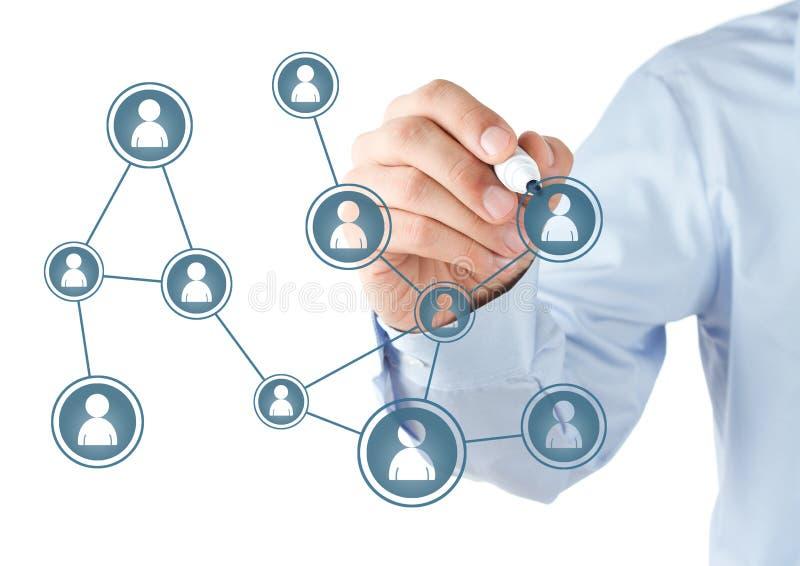 Sozialnetz stockfotos