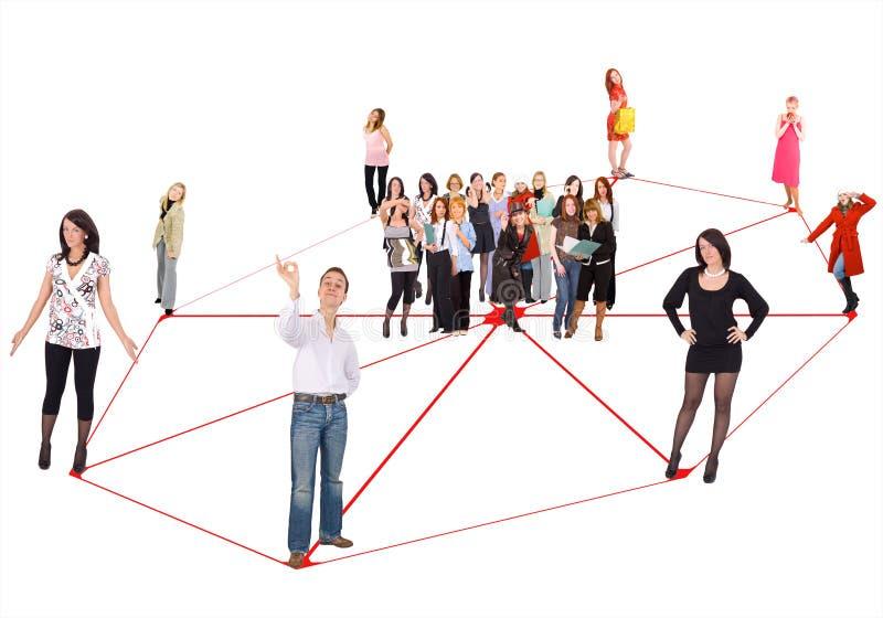 Sozialnetz stockbilder