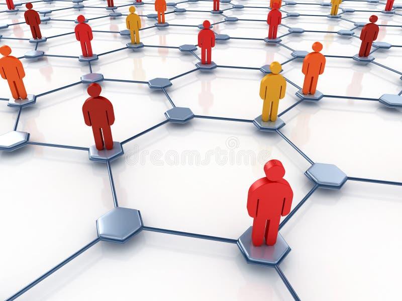 Sozialnetzauszug lizenzfreie abbildung
