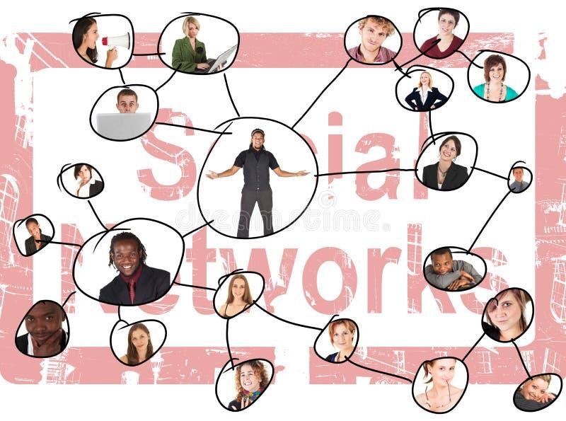 Sozialnetze vektor abbildung