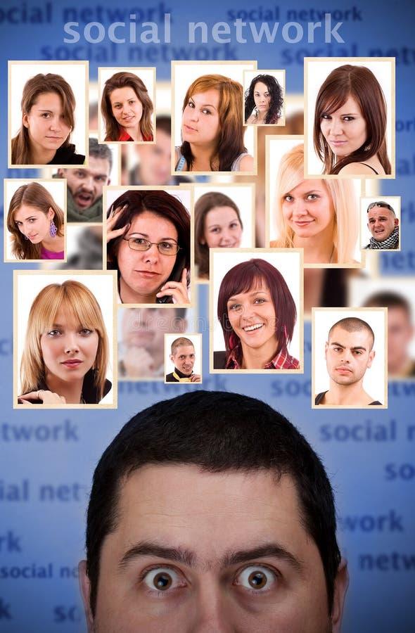 Sozialnetzkonzept lizenzfreie stockfotos
