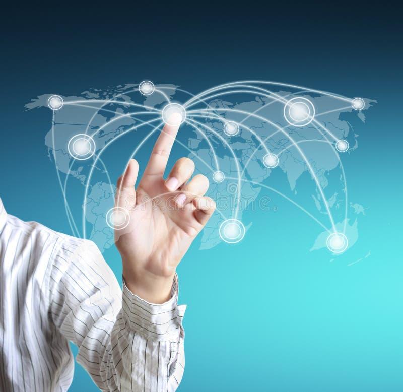 Sozialnetzstruktur stockfoto