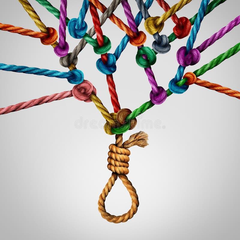 Sozialselbstmord-Konzept lizenzfreie abbildung