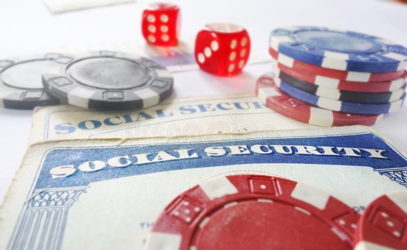 Sozialsicherheitsrisikokonzept lizenzfreies stockfoto