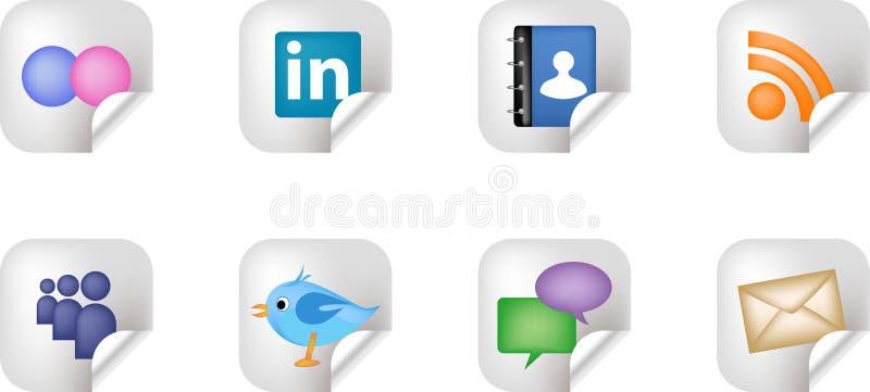 Sozialvernetzungs-Media-Aufkleber