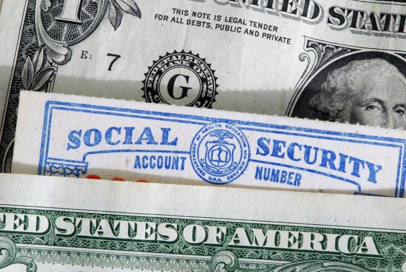 Sozialversicherungkarte stockfotografie