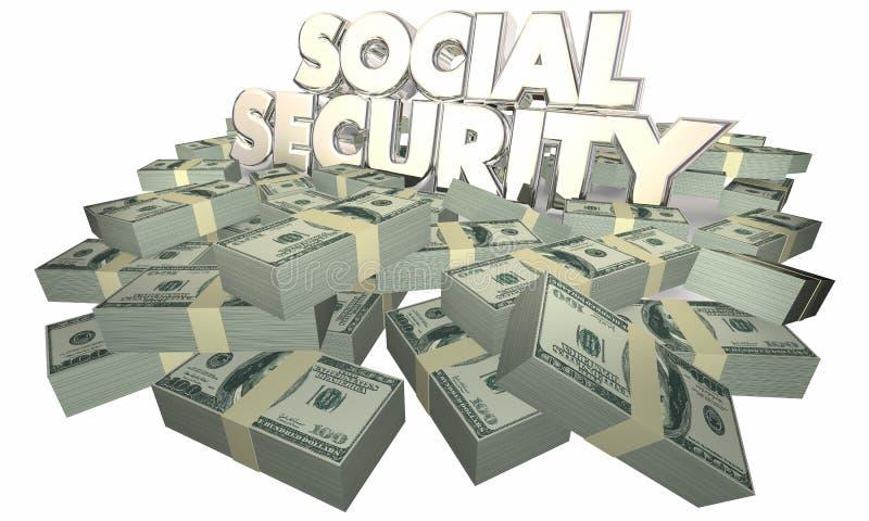 Sozialversicherungs-Bargeld-Ruhestands-Einsparungen lizenzfreie abbildung