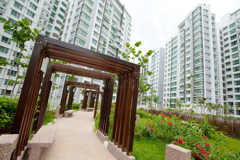 Sozialwohnung in Singapur stockbild