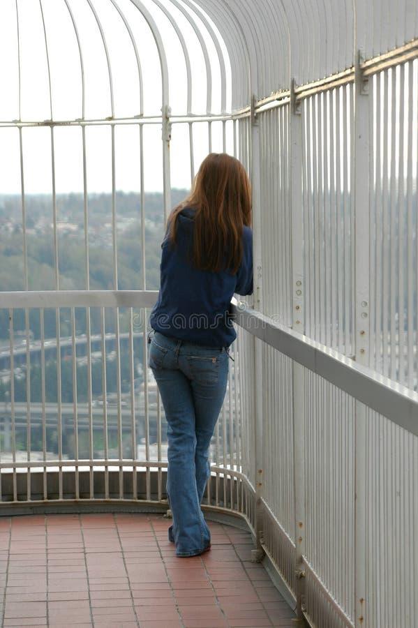 Sozinho adolescente foto de stock