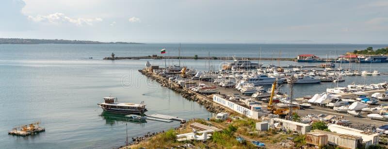 Sozopol Marina, Bulgarien arkivfoton
