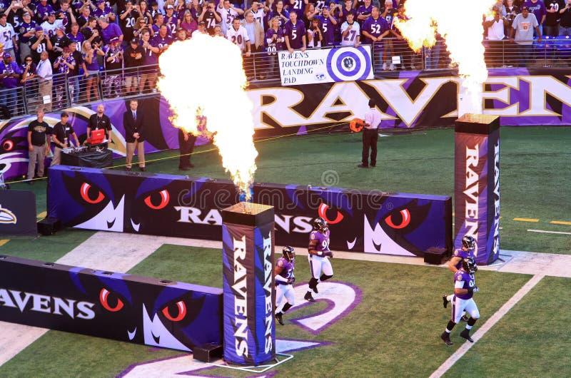 Spänning för lek för NFL-fotboll Pre royaltyfri fotografi