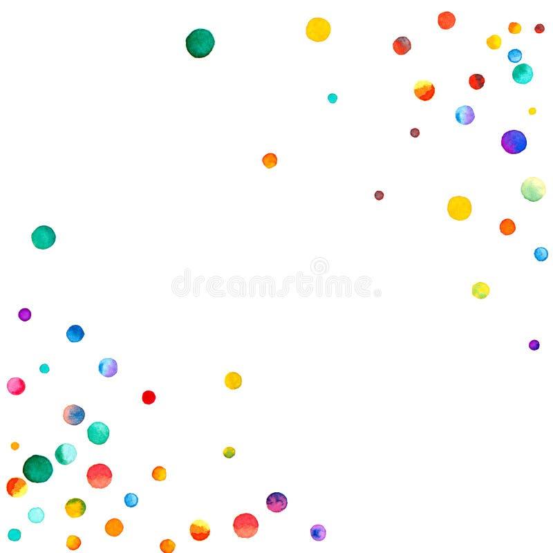 Spärliche Aquarellkonfettis auf weißem Hintergrund vektor abbildung