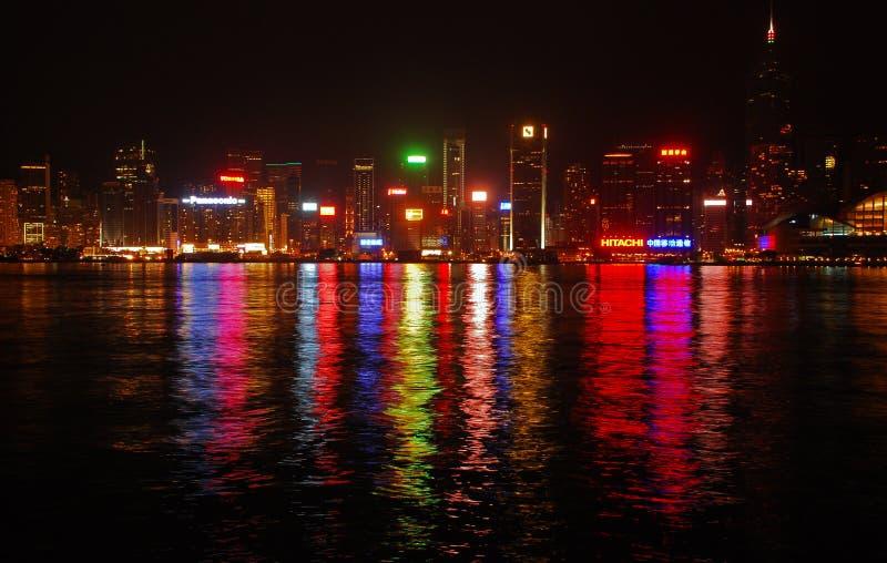 Spät- Ansicht von Hong Kong Island lizenzfreies stockbild