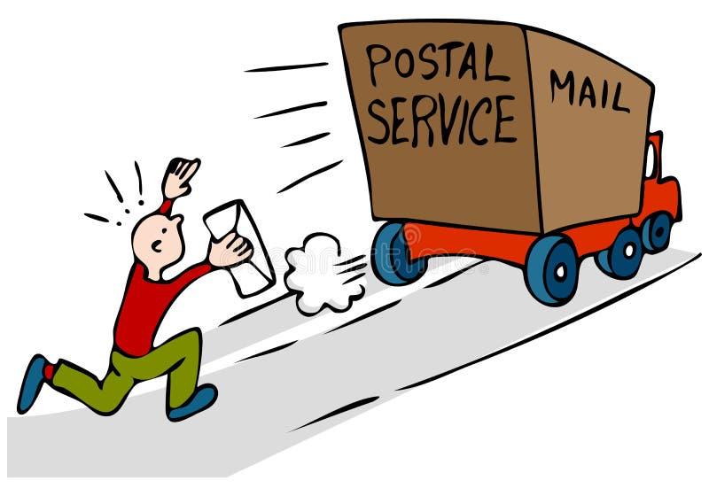Späte dringende Post lizenzfreie abbildung