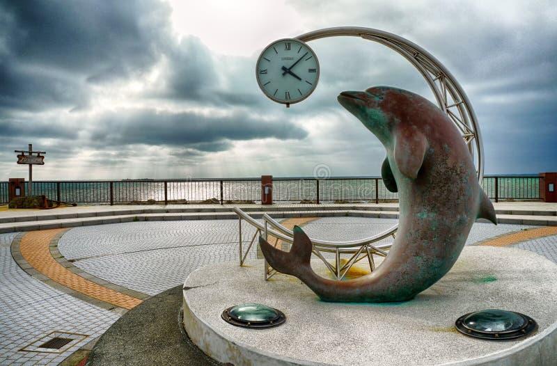 Später Nachmittags-Szene Esandomari-Hafen Hokkaido stockbilder