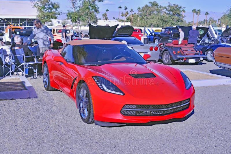Spätes vorbildliches Chevrolet Corvette Convertible lizenzfreies stockfoto