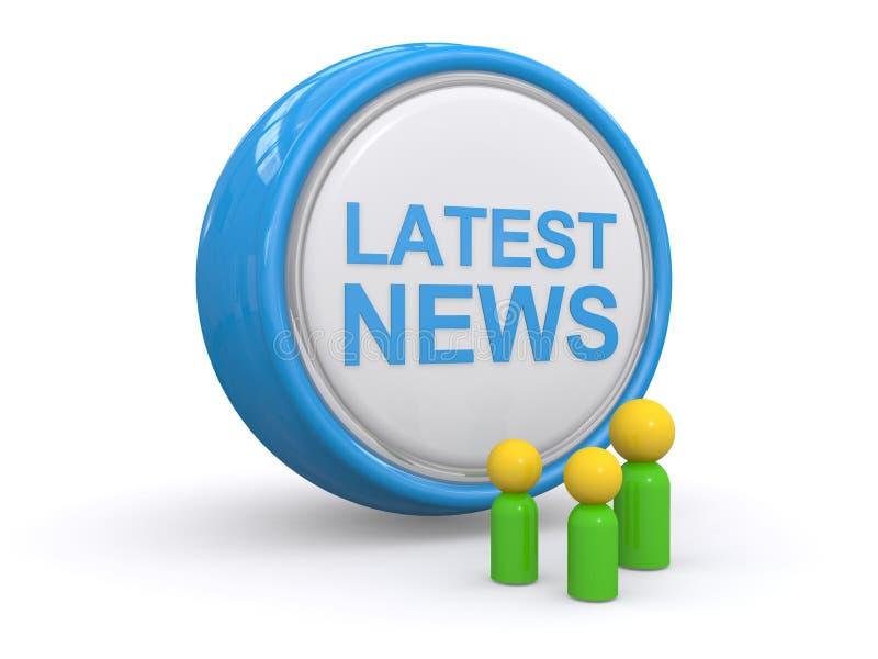 Späteste Nachrichten lizenzfreie abbildung