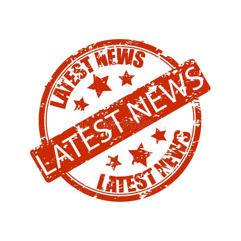 Spätester Nachrichtenstempel lokalisiert auf Weiß stock abbildung