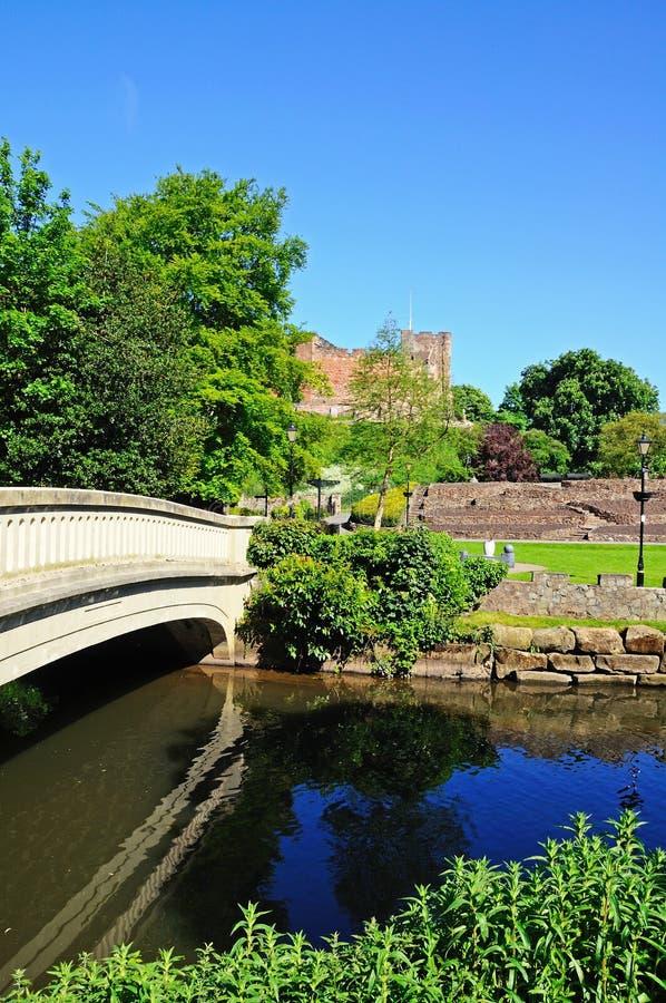 Spång över floden Anker, Tamworth arkivbild