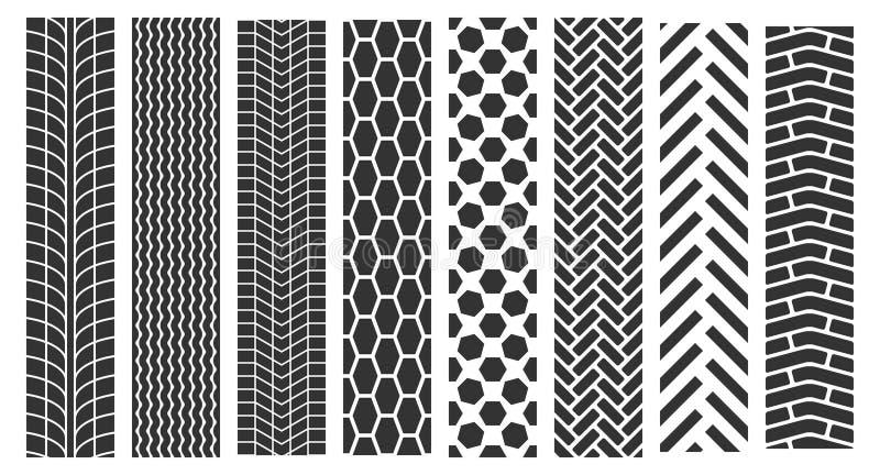 Spår av gummihjul royaltyfri illustrationer