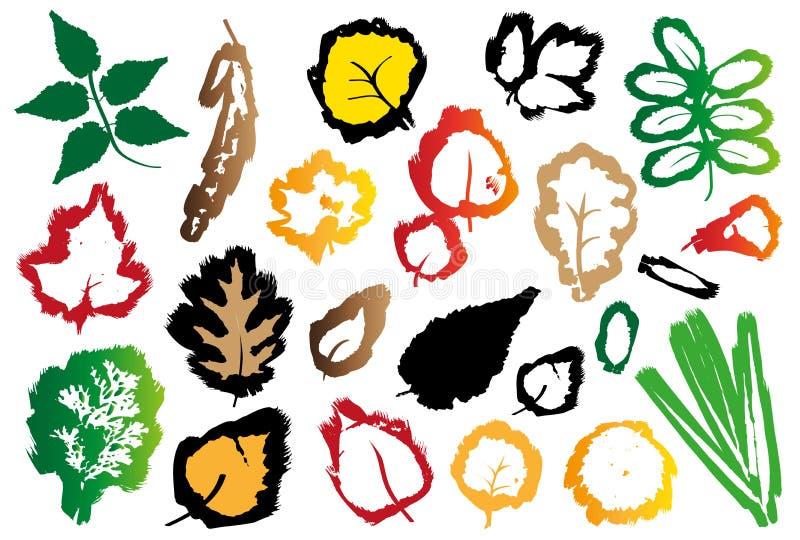 Spår av höstsidor royaltyfri illustrationer