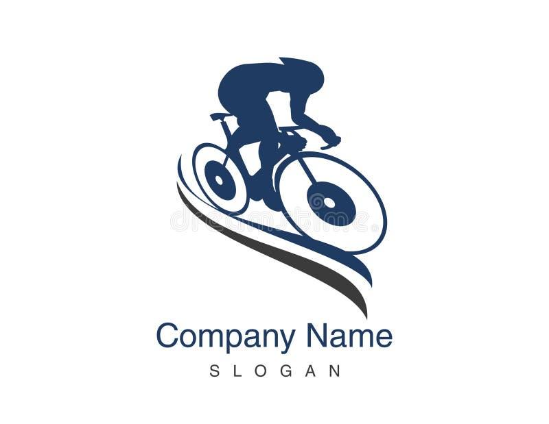 Spår som cyklar logo vektor illustrationer
