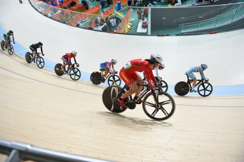 Spåra att cykla på de 2016 OS:erna i parkera arkivfoton