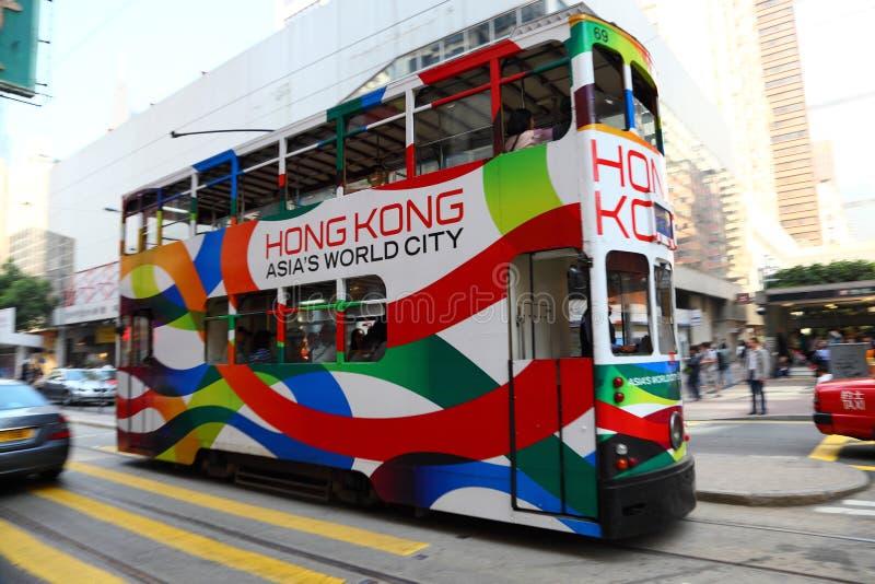 Spårväg i Hong Kong royaltyfri foto