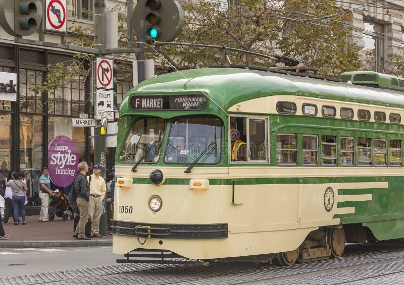 Spårvagn i San Francisco arkivfoto