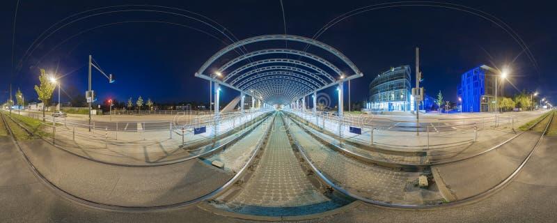 Spårvagnstopp i Hannover royaltyfria foton