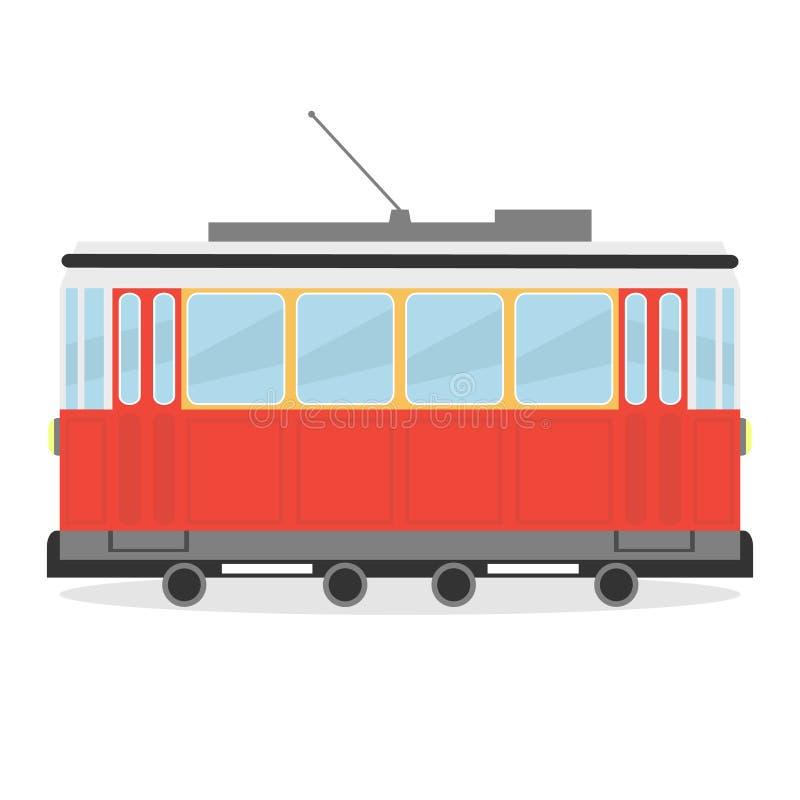 Spårvagnsymbol royaltyfri illustrationer