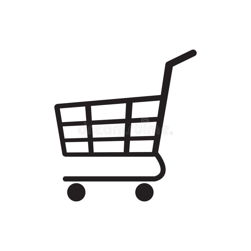 Spårvagnsymbol, symbol för shoppingvagn stock illustrationer