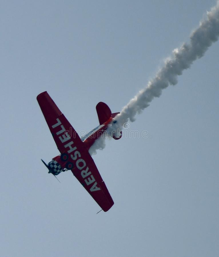 Spód Aeroshell drużyny Aerobatic samolot zdjęcie royalty free