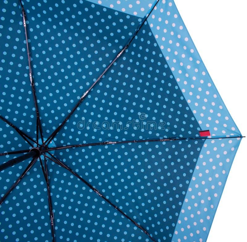 Spód Błękitny parasol zdjęcie royalty free