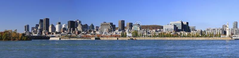 Spód montrealski jesienią i rzeką St. Lawrence zdjęcia stock