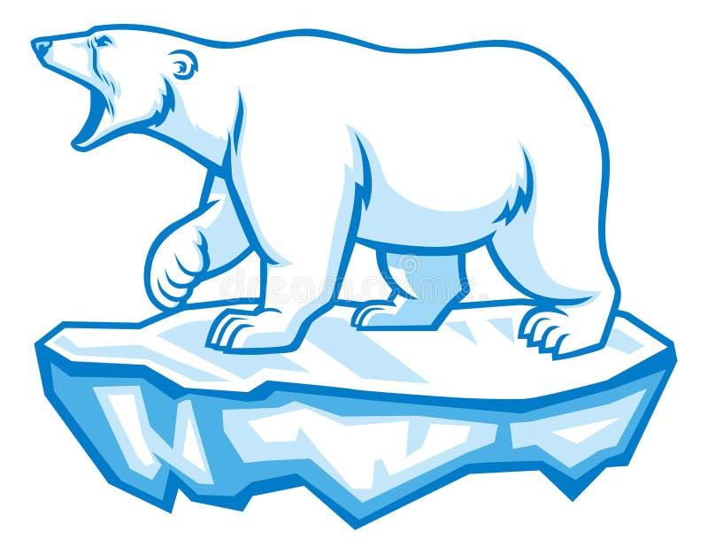 spójrz biegunowy bear ilustracji