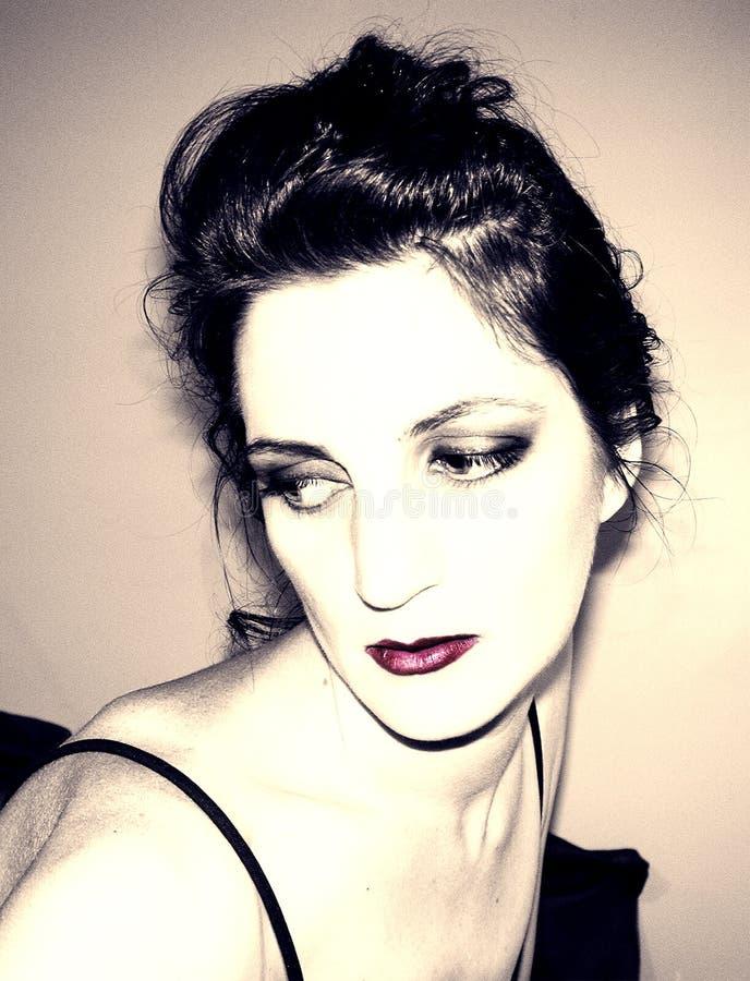 Spójrz Na Portret Kobiety Zdjęcie Royalty Free