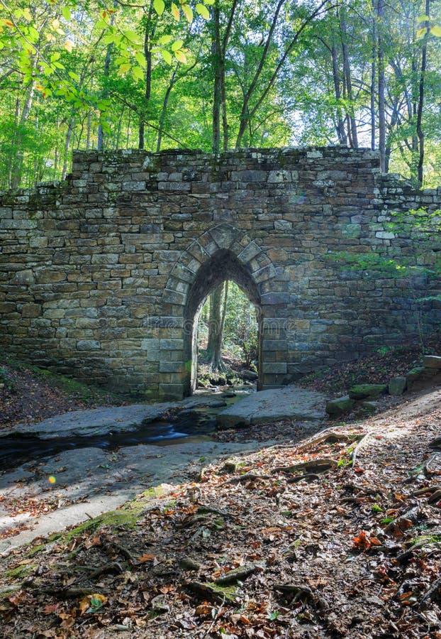 Spökad bro för SC Poinsett arkivbild