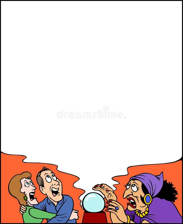 Spökad ram, läskig garnering! stock illustrationer