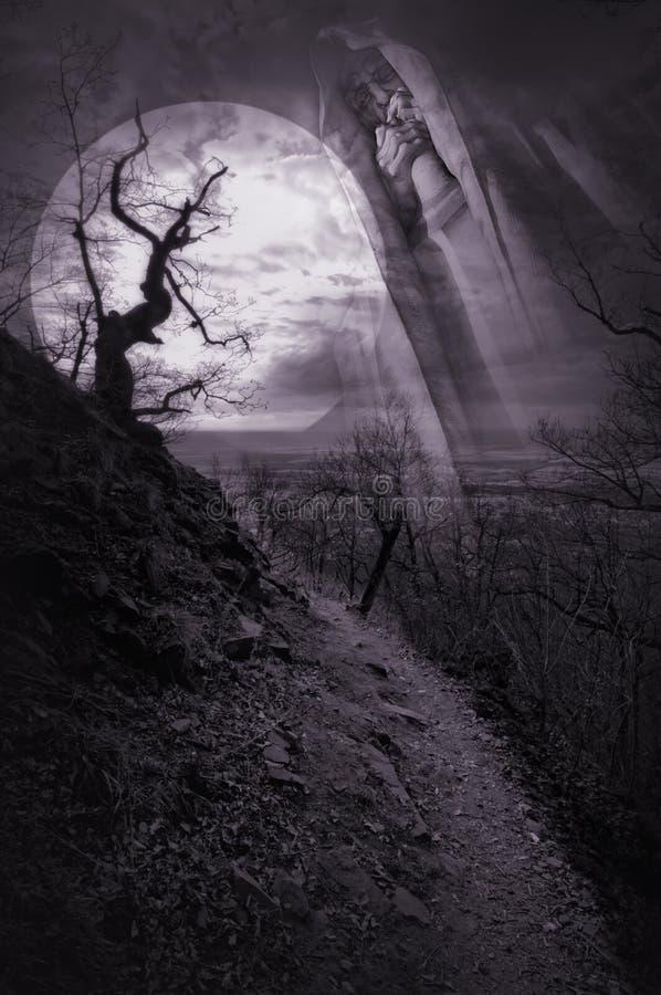 Spökad väg arkivfoto