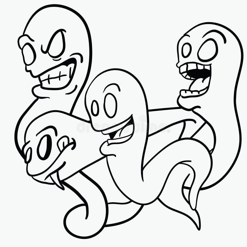 spökar vektor illustrationer