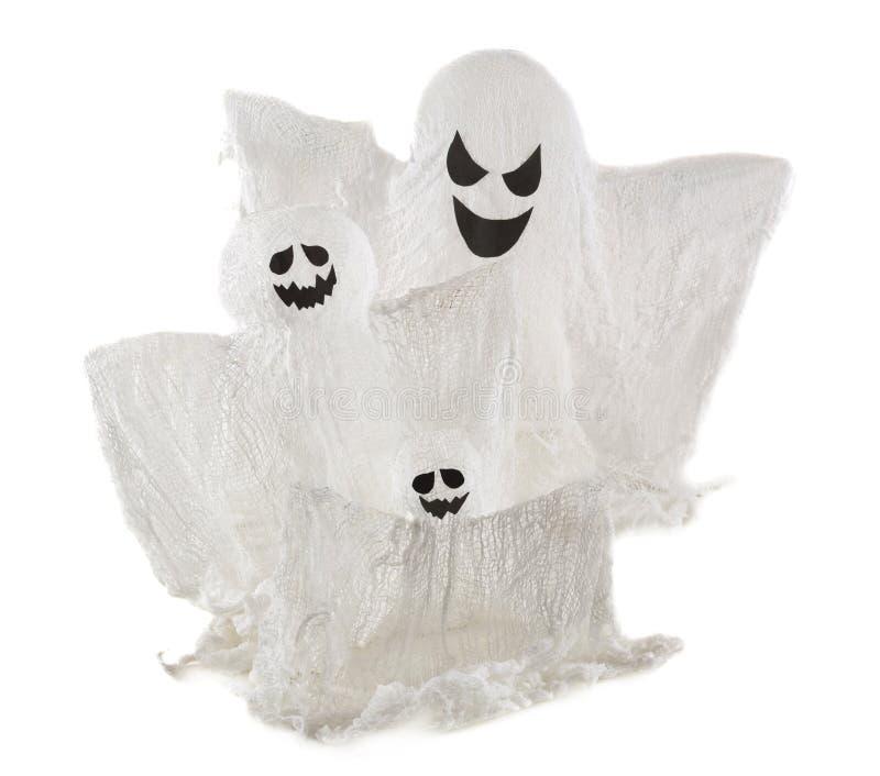 Spökar som isoleras på vit royaltyfria foton