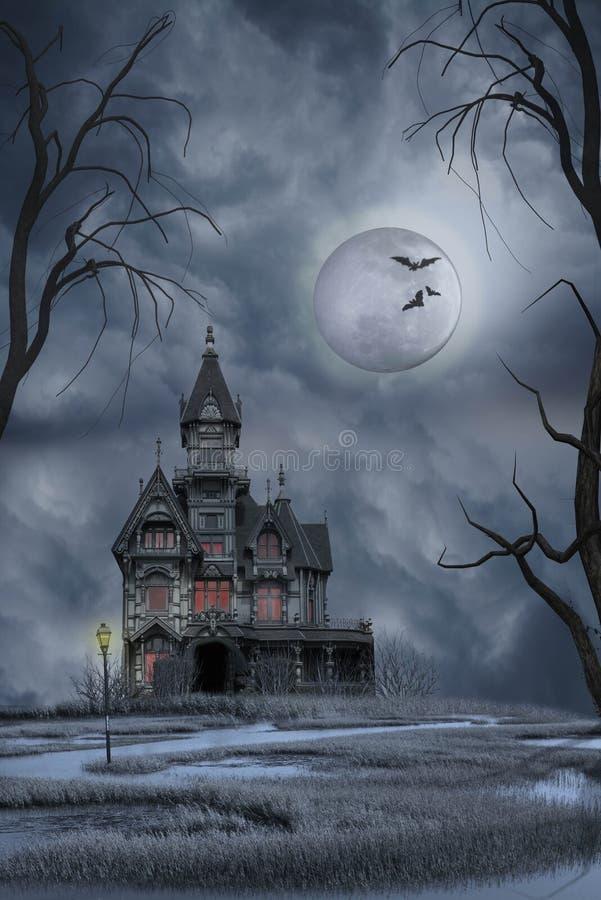 spökat hus royaltyfri foto