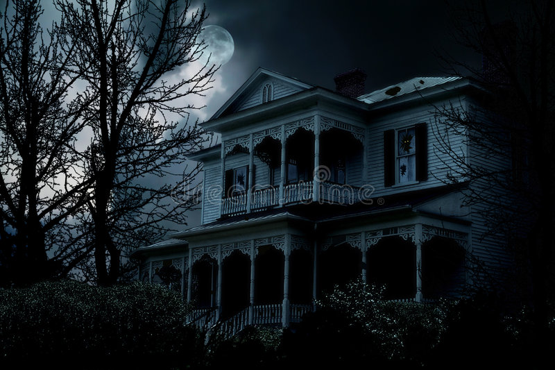 spökat hus arkivbilder