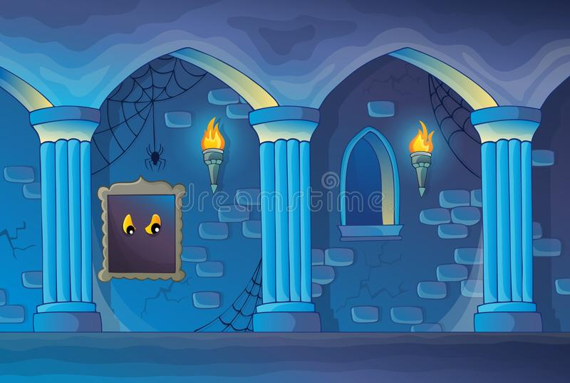 Spökat inre tema 1 för slott royaltyfri illustrationer