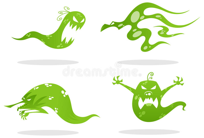 spöke royaltyfri illustrationer