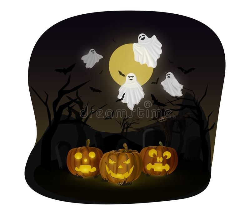 spöke halloween stock illustrationer