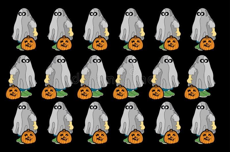 Spökebakgrund stock illustrationer